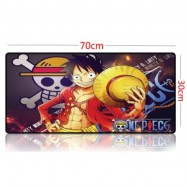 image of One Piece 70 x 30 x 0.2cm A002 Gaming Mat Non-slip Anti Fray Stitching Mouse Pad