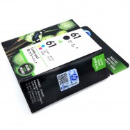 image of Official HP 61 Combo Pack Black/Tri-color Original Ink Cartridges (CR311AA)