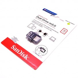 image of Official 16GB SanDisk USB3.0 Ultra Dual OTG Drive M3.0