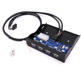 image of Front Panel 4 Floppy HUB USB2.0 Single 9-Pin 3.5Inch Panel With Reinforced Power