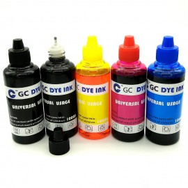 image of Refill Ink 100ml for Canon Inkjet Printer Set of 5 (Multicolor)
