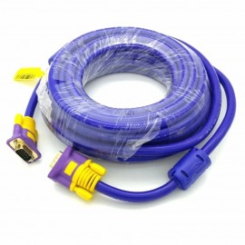 image of 60M High Quality VGA Cable (3+9) Support resolutions up to 1920 x 1200