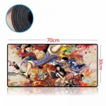 One Piece 70 x 30 x 0.2cm Gaming Mat Non-slip Anti Fray Stitching Mouse Pad