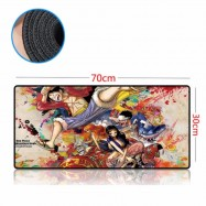 image of One Piece 70 x 30 x 0.2cm Gaming Mat Non-slip Anti Fray Stitching Mouse Pad