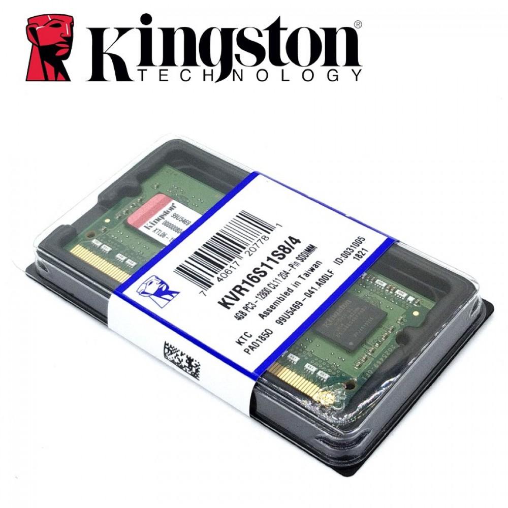 Official Kingston KVR16S11S8/4 4GB DDR3 1600Mhz Laptop Memory Ram (T12-12-6)