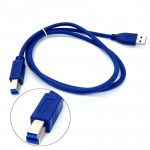 USB 3.0 A Male to B Male AM-BM Cable Speed Up To 5.0 Gbps
