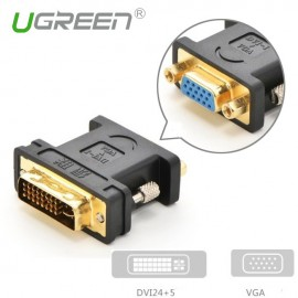 image of Ugreen DVI 24+5 Male to VGA HD15 Female Adapter Gold Plated