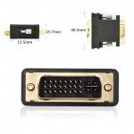 Ugreen DVI 24+5 Male to VGA HD15 Female Adapter Gold Plated