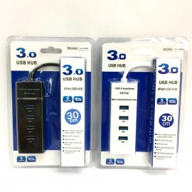 image of XL-5069 USB3.0 4 Ports Hub Super Speed Up to 5Gbps (H2-4-3)