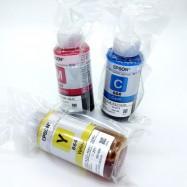 image of 100% Original Epson T664 Refill Ink Bottle 70 ml Set Of 3 Magenta,Cyan,Yellow