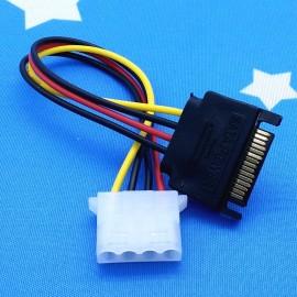 image of 15 Pin Sata Power to 4 Pin Molex Power (T14-11-12)