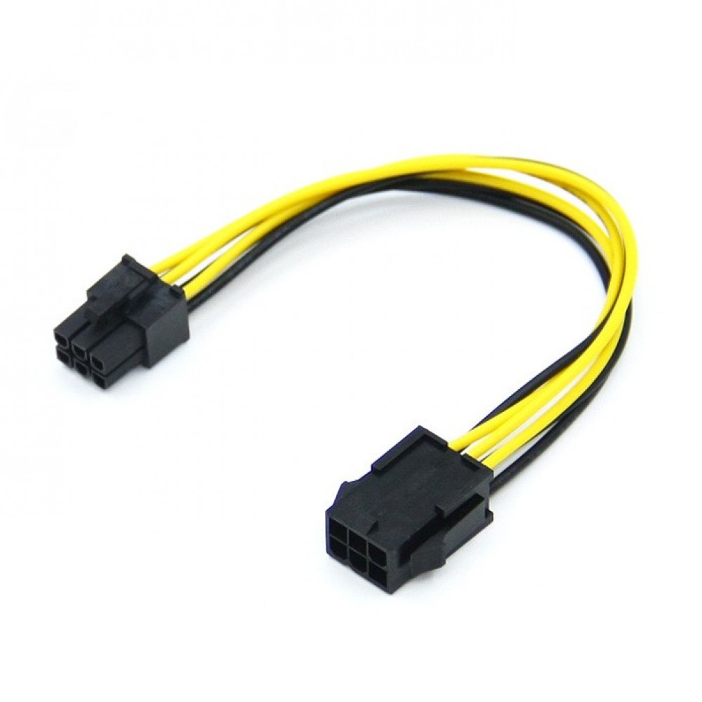 0.2m PCIe 6 Pin Female to Male Extension Cable (T14-8)