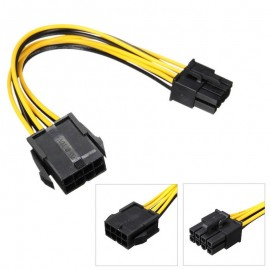 image of PCI-E 8Pin Male To 8Pin Female PCI Express Power Extension Cable (T14-7)