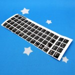 English Sticker For PC / Laptop Keyboard Color Black & Fonts White (T12-7)