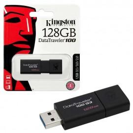 image of Official 128GB Kingston DataTraveler 100 Generation 3 USB 3.1 Gen 1/USB 3.0
