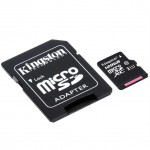Official Kingston 128GB microSDHC Class 10 UHSI 80MB/s Read Card with SD Adapter