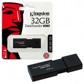 image of Official Kingston 32GB DataTraveler 100 Generation 3 USB 3.1 Gen 1/USB 3.0