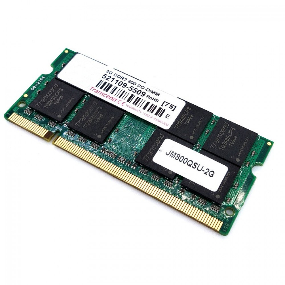 100% working Transcend 2GB DDR2 800Mhz Laptop SODIMM RAM (T11-4)