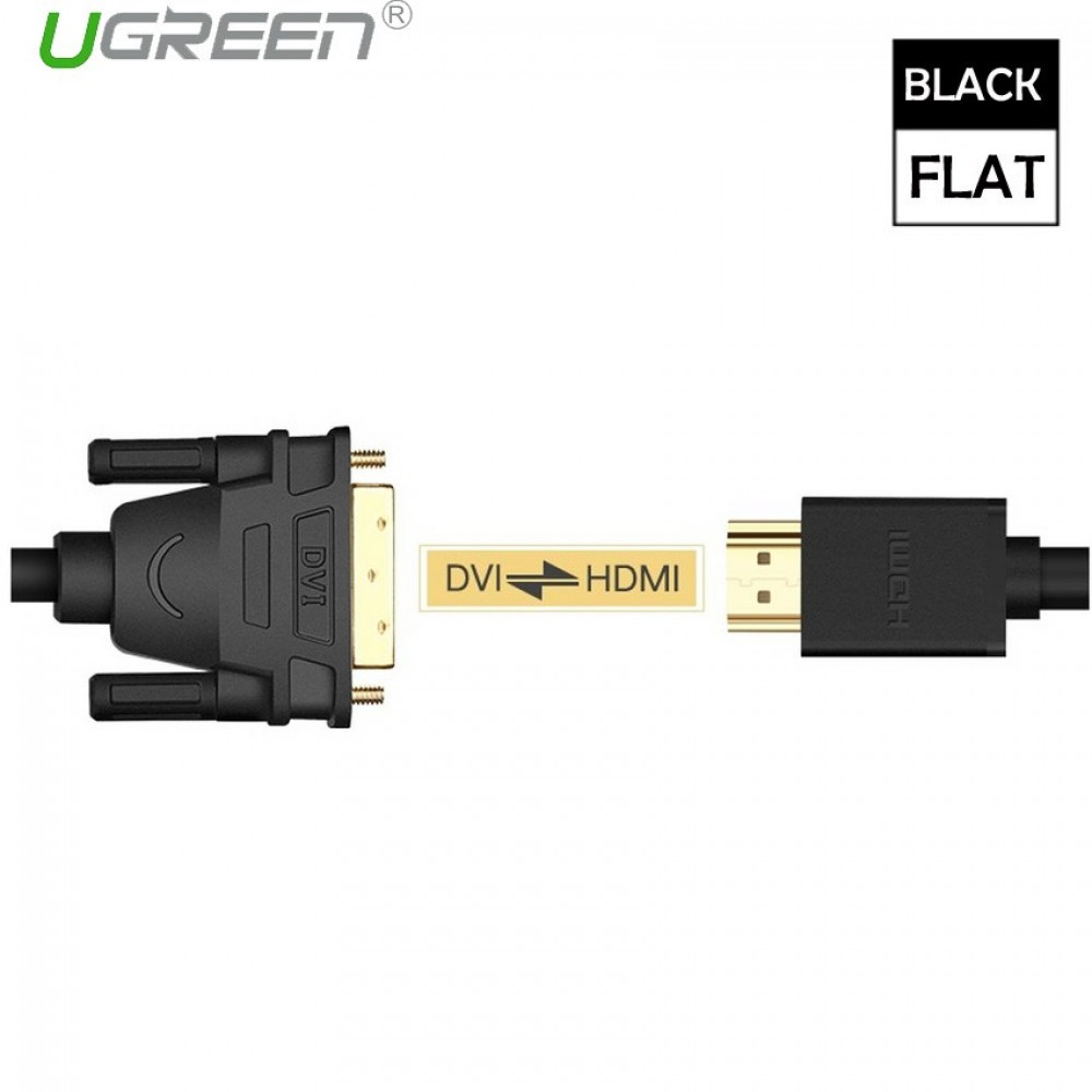Ugreen 1M 1080P HDMI To DVI-D 24+1 Pin/DVI To HDMI Two-way High-Definition Cable