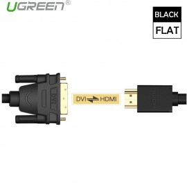 image of Ugreen 1M 1080P HDMI To DVI-D 24+1 Pin/DVI To HDMI Two-way High-Definition Cable