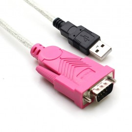 image of 100% working USB to RS232 DB9 Serial Adapter Cable - M/M