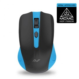 image of Official AVF GEOM3 AM-5G-BL (BLUE) 2.4G WIRELESS MOUSE. - BATTERIES INCLUDED!