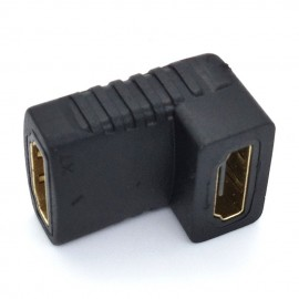 image of L Type 90 degree elbow HDMI female to female Extension Adapter(T15-12-1)