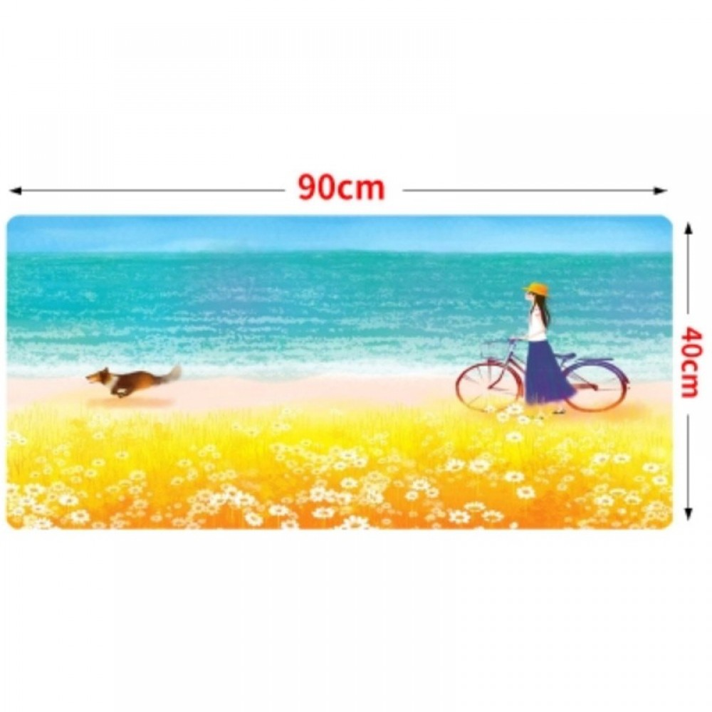 90 x 40 x 0.2cm B04 Gaming Mat Non-slip Anti Fray Stitching Beautiful Mouse Pad