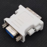 image of 100% working DVI-I 24+5 (M) to VGA 15 (F) Adapter Converter (T1-1)