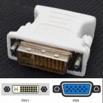 100% working DVI-I 24+5 (M) to VGA 15 (F) Adapter Converter (T1-1)