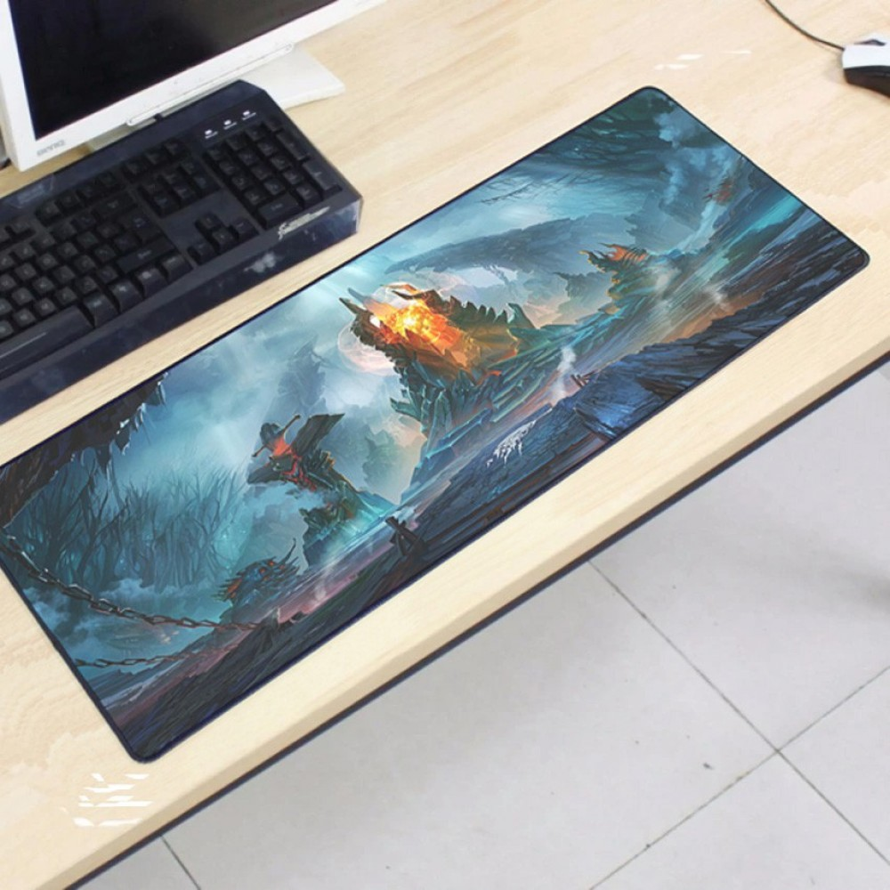 Dota2 DT123 80 x 30 x 0.2cm Gaming Mat Non-slip Anti Fray Stitching Mouse Pad