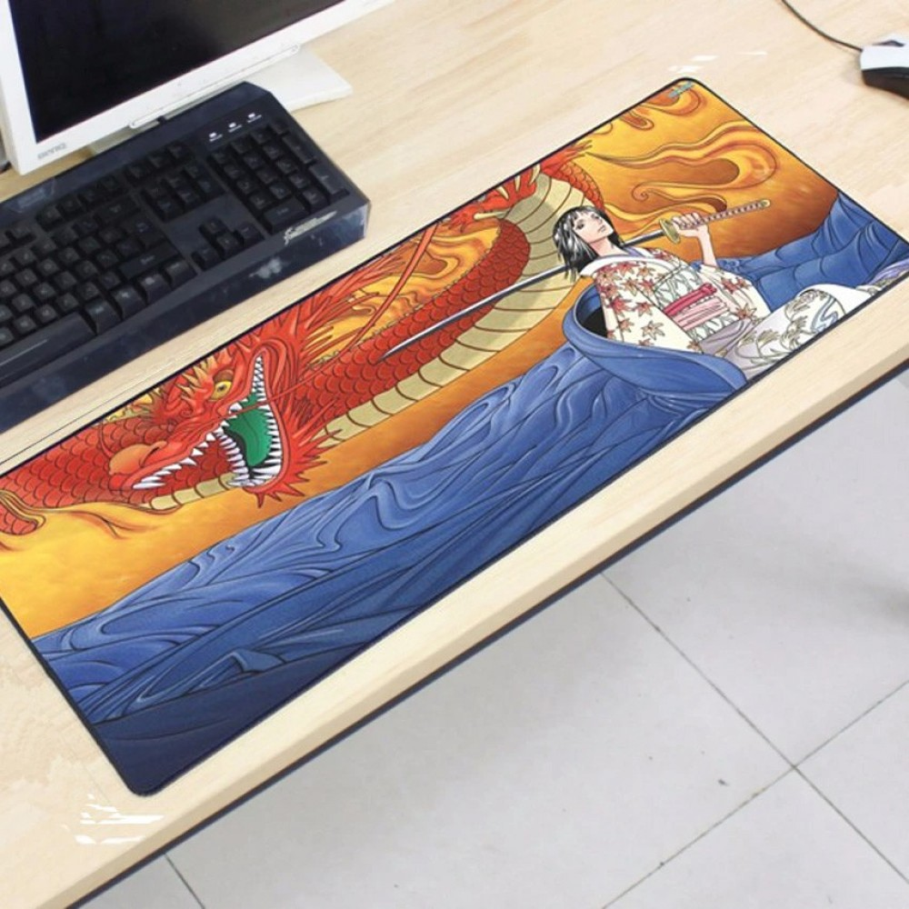One Piece OP69 80 x 30 x 0.2cm Gaming Mat Non-slip Anti Fray Stitching Mouse Pad