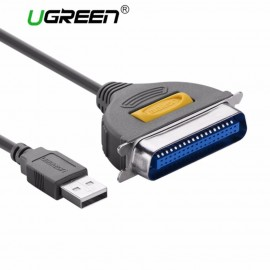 image of Ugreen 1M Usb To IEEE1284 Parallel Printer Cable