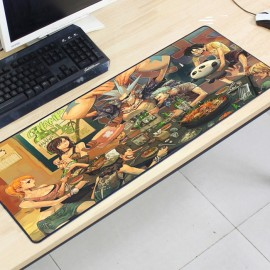 image of One Piece OP19 80 x 30 x 0.2cm Gaming Mat Non-slip Anti Fray Stitching Mouse Pad