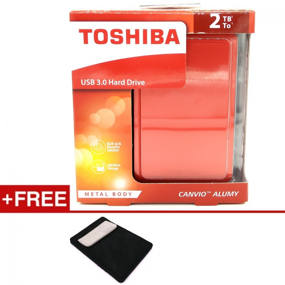 Toshiba 2TB Canvio Alumy Metal Chassic USB3.0 Portable Hard Drive