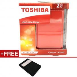 image of Toshiba 2TB Canvio Alumy Metal Chassic USB3.0 Portable Hard Drive