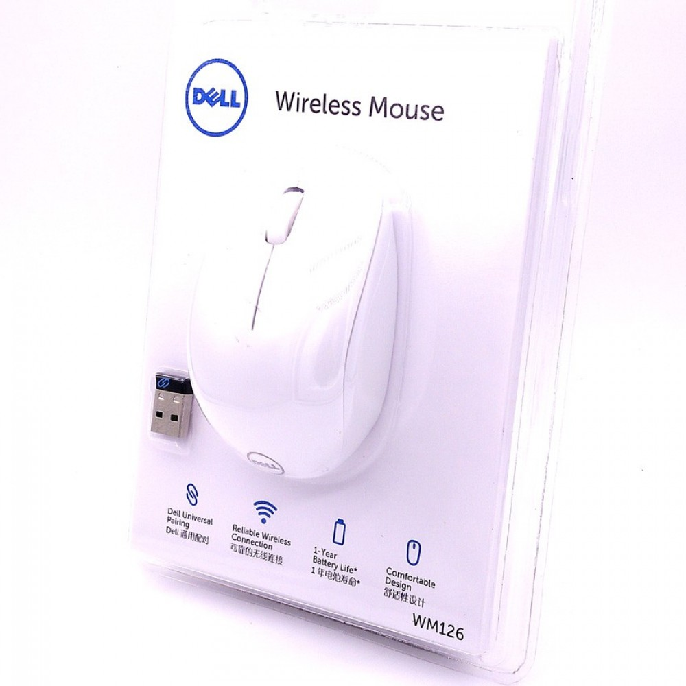 Official Dell WM126 Wireless Mouse Comfortable Design