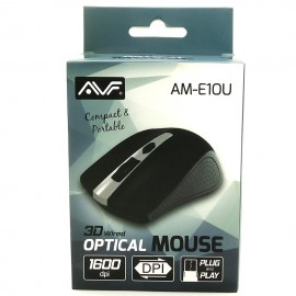 image of Official AVF AM-E10U 1600DPI Usb 3D Wired Optical Mouse