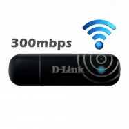 image of Official D-Link 300Mbps USB Wireless N WiFi Adapter DWA-132 with WPS