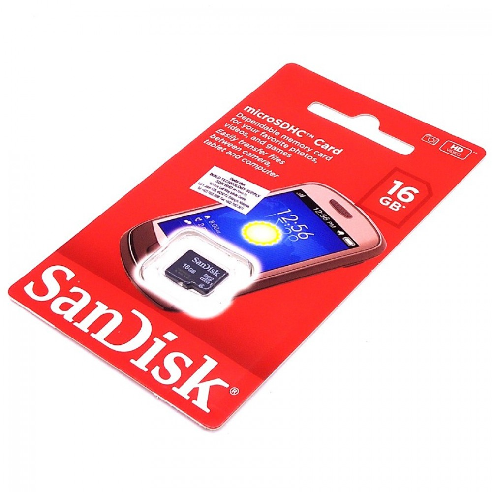Official SanDisk 16GB Class 4 Micro SD Memory