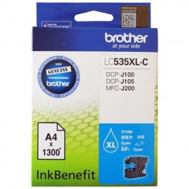 image of Brother LC-535XL-C Cyan Ink Cartridge For DCP-J100 / DCP-J105 / MFC-J200