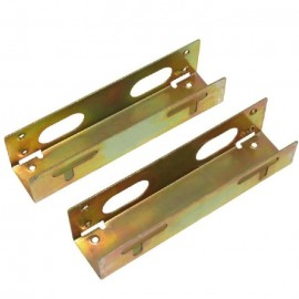 image of 1Set=2 PCs bracket 3.5 to 5.25 conversion frame drive hard drive fixed