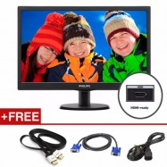 """image of Philips 23.6"""" 243V5QHSBA 16:9 Full HD Widescreen LED Monitor With Vga/Dvi /HDMI"""