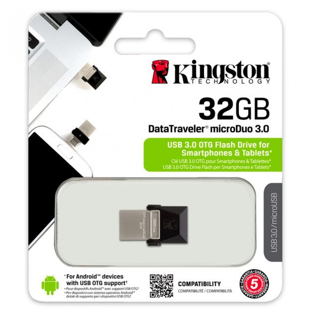 Official Kingston Micro Duo USB 3.0 Flash Drive OTG 32GB