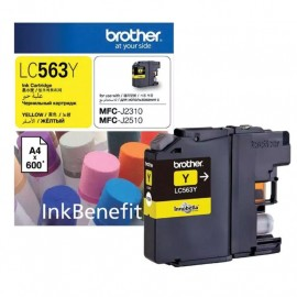 image of Original Brother LC-563Y Yellow Ink Cartridge
