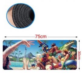 image of 75 x 30 x 0.2cm Gaming Mat Non-slip Anti Fray Stitching Beautiful Mouse Pad