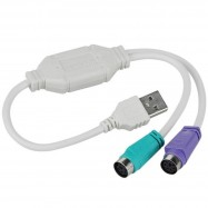 image of USB to PS/2 / PS2 Keyboard Mouse Adapter Converter Cable