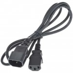 1.2M Computer Male to Female Power Extension Cable (Black)
