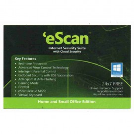 image of Official eScan Internet Security Suite with Cloud Security 2018(Classic Package)