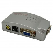 image of High Resolution VGA to TV AV Composite RCA S-Video Converter Box